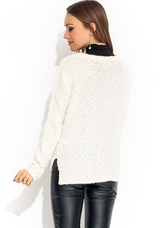 Make A Fuzz Mixed Yarn Cardigan CREAM