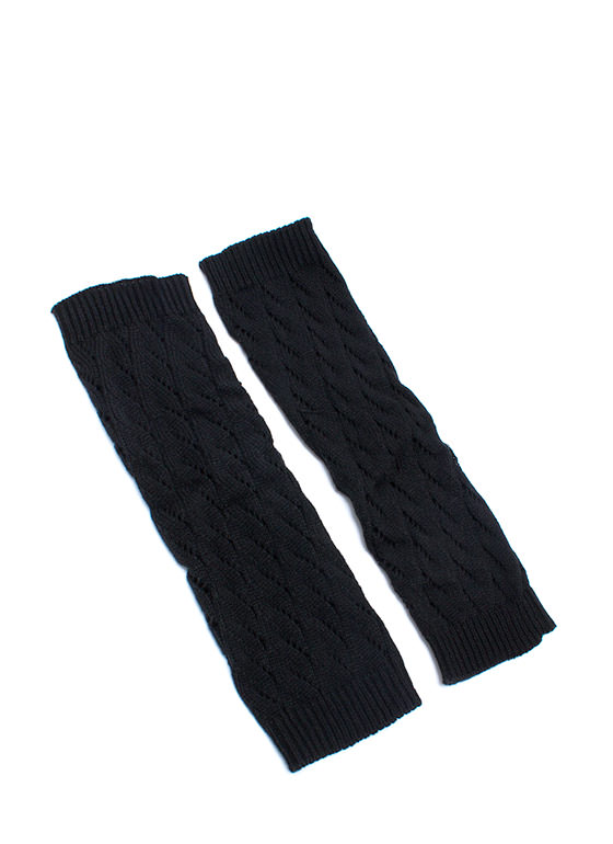 Warm Bodies Knit Legwarmers BLACK