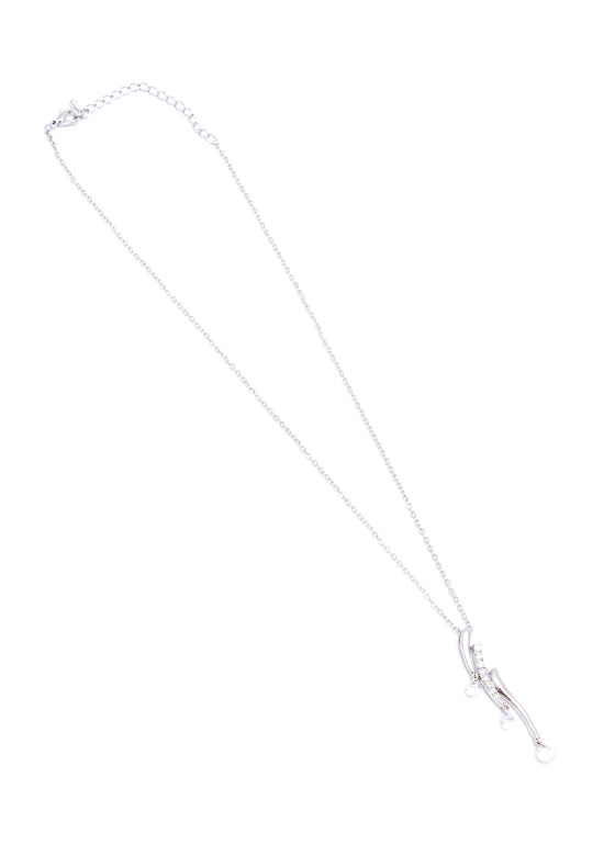Girls Best Friend Curved Necklace SILVER