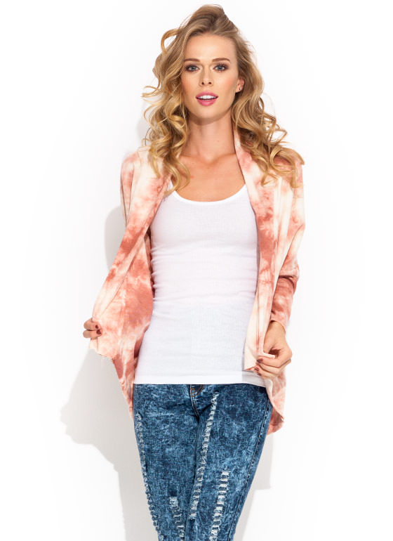 Slasher Pick Tie Dye Cardigan CORAL