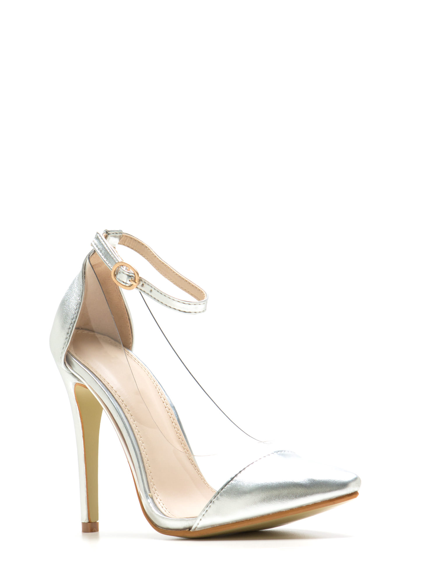 Clear The Way Pointy Pumps SILVER
