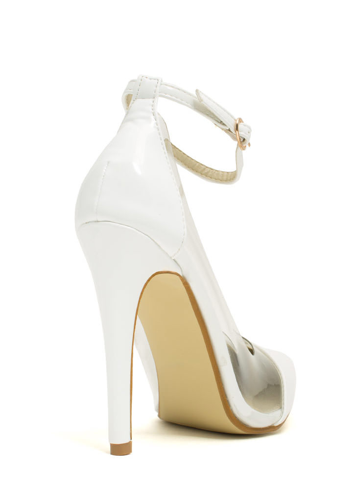 Clear The Way Pointy Pumps WHITE