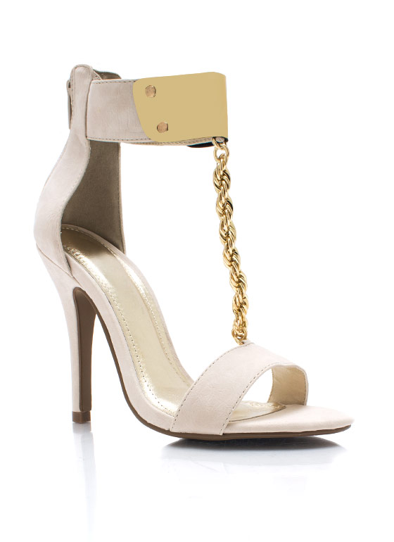 Do The Twist Chain Heels NUDE