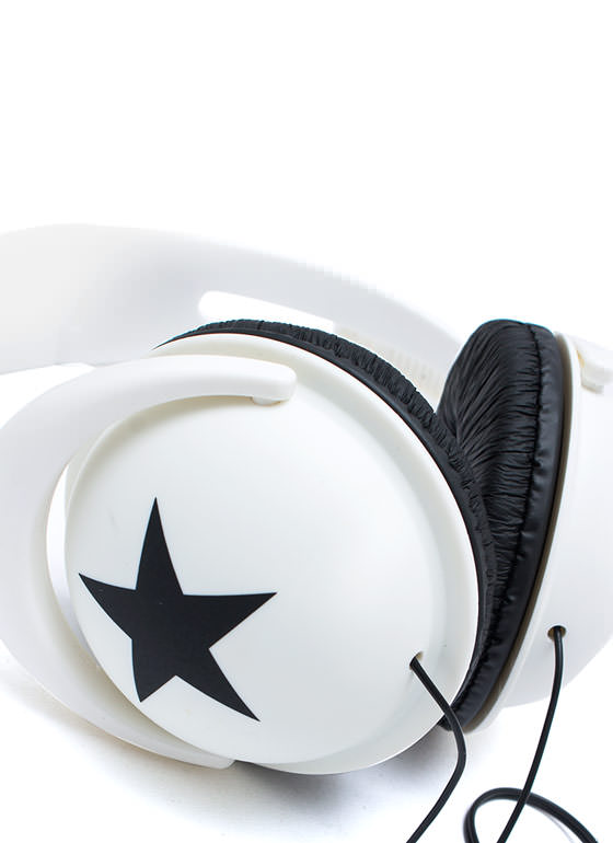 Super Star Headphones WHITEBLACK