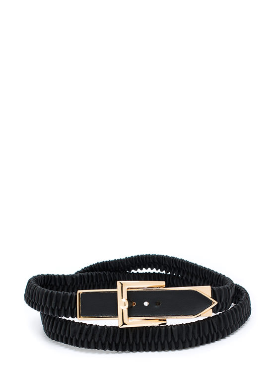 Buckle Down Super Stretchy Belt BLACKGOLD