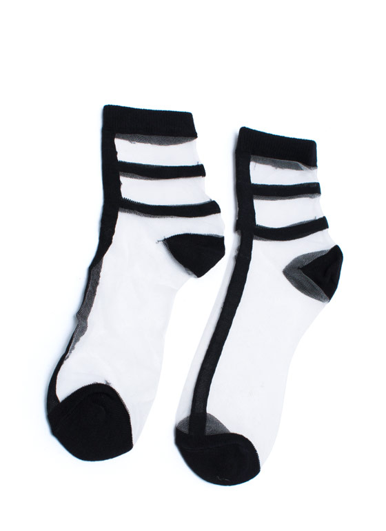 What A Mesh Socks BLACK