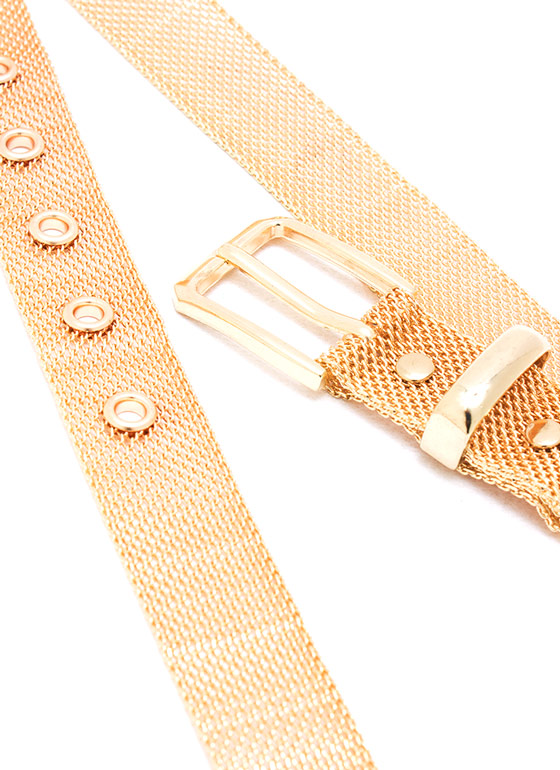 Mesh Chain Buckle Belt GOLD