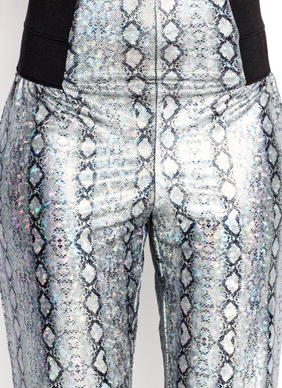 Metallic Reptilian Leggings SILVER