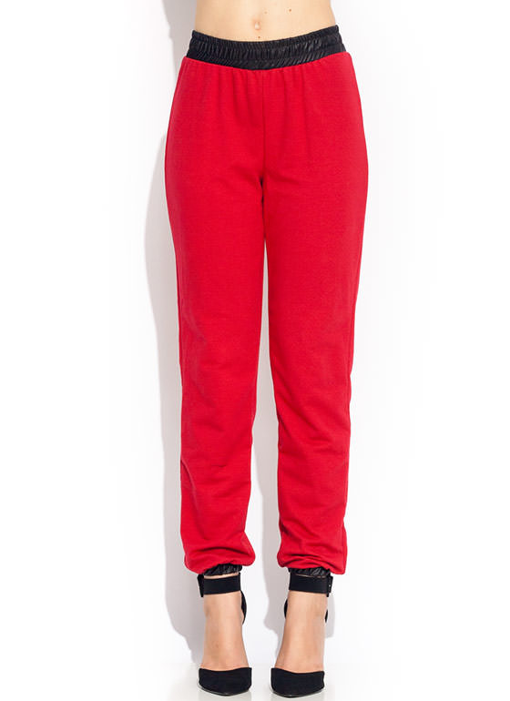 Sweat It Out Trimmed Joggers RED