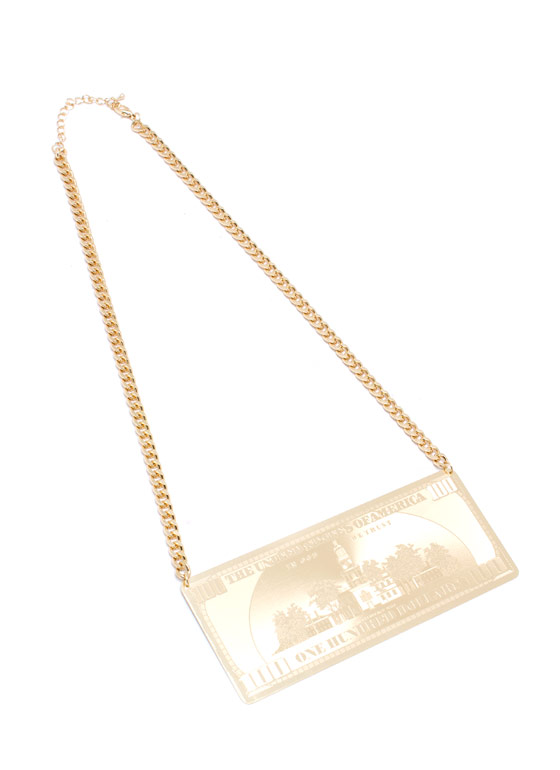 Bill Benjamin Plate Necklace GOLD