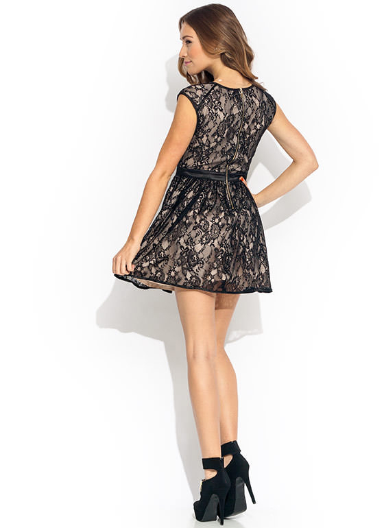 Racy Lacy Fit N Flare Dress BLACKBEIGE