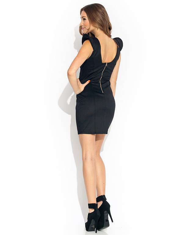 Starfleet Commander Bodycon Dress BLACK