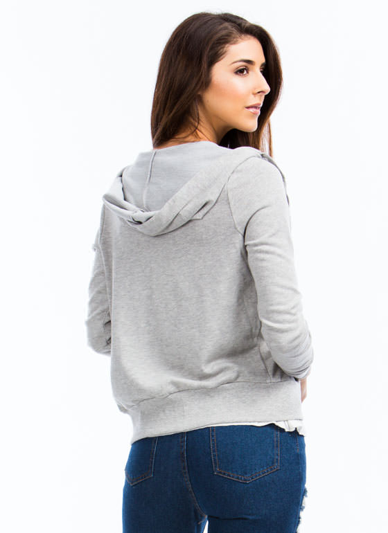 Got You Covered Basic Hoodie HGREY