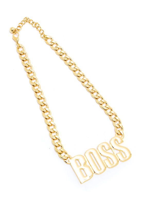 Bossed Up Necklace GOLD