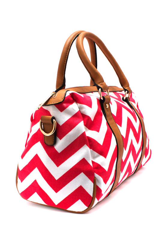 Ziggy Zag Purse REDTAN