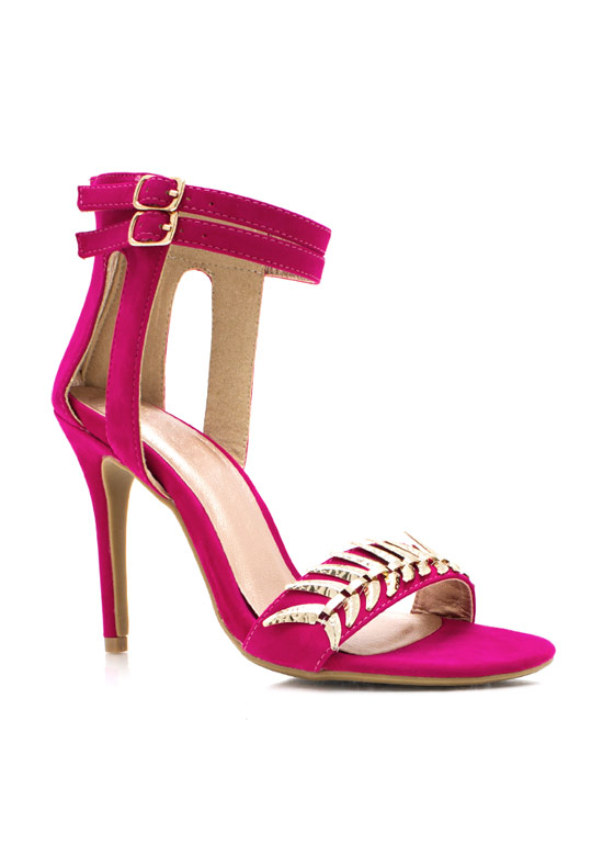 Tusk To Dawn Ankle Strap Heels FUCHSIA