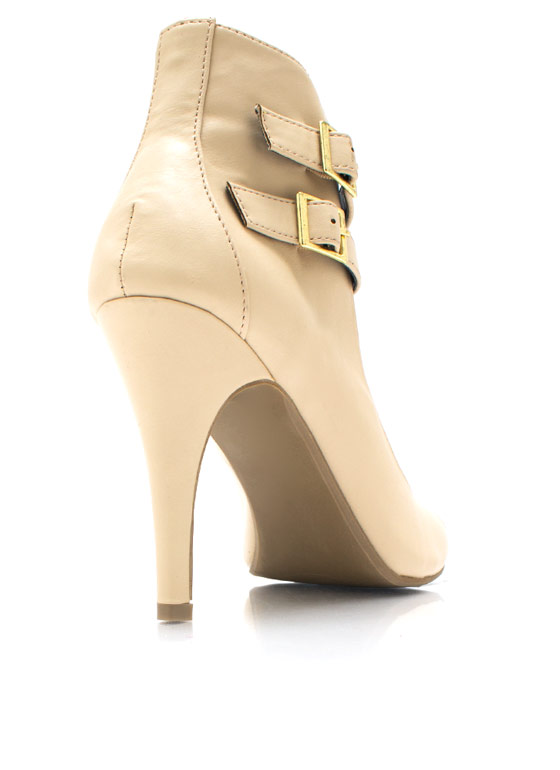 Harness Living Peep Toe Heels NUDE