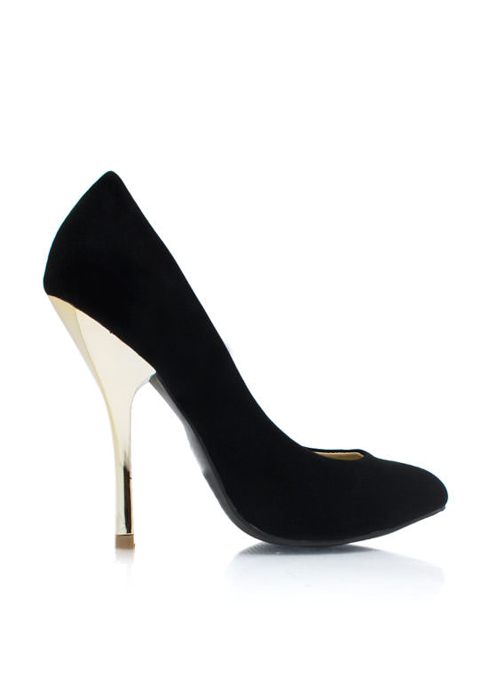 Cool Your Heels Accent Pumps BLACK