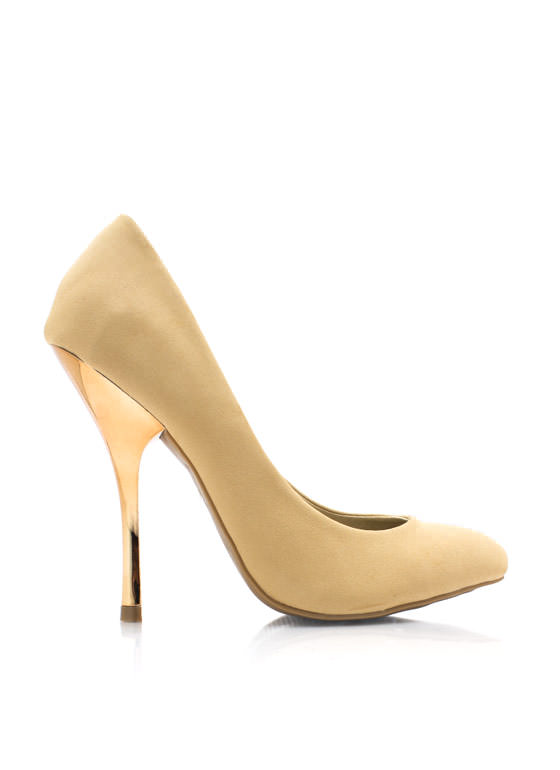 Cool Your Heels Accent Pumps CAMEL