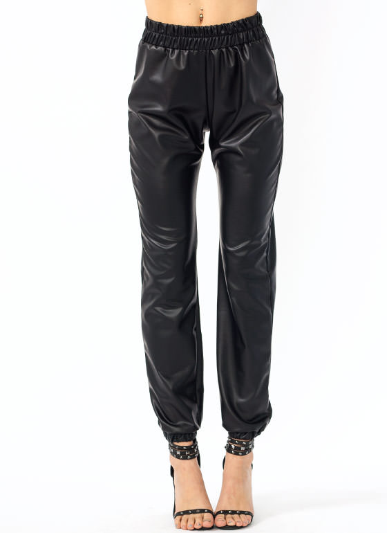 R U Faux Real Joggers BLACK