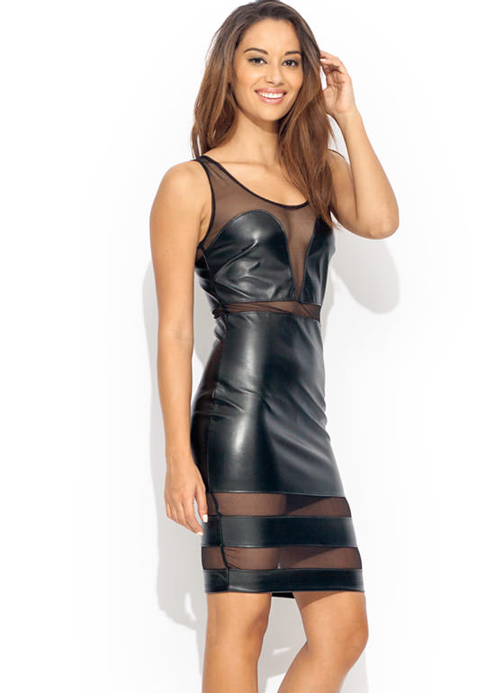 Meshtastic Contrast Dress BLACK