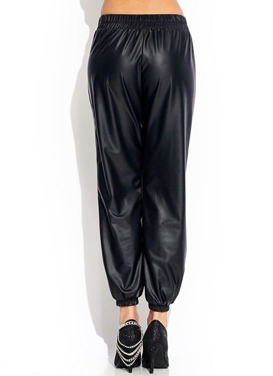 Slick Your Mind Track Pants BLACK