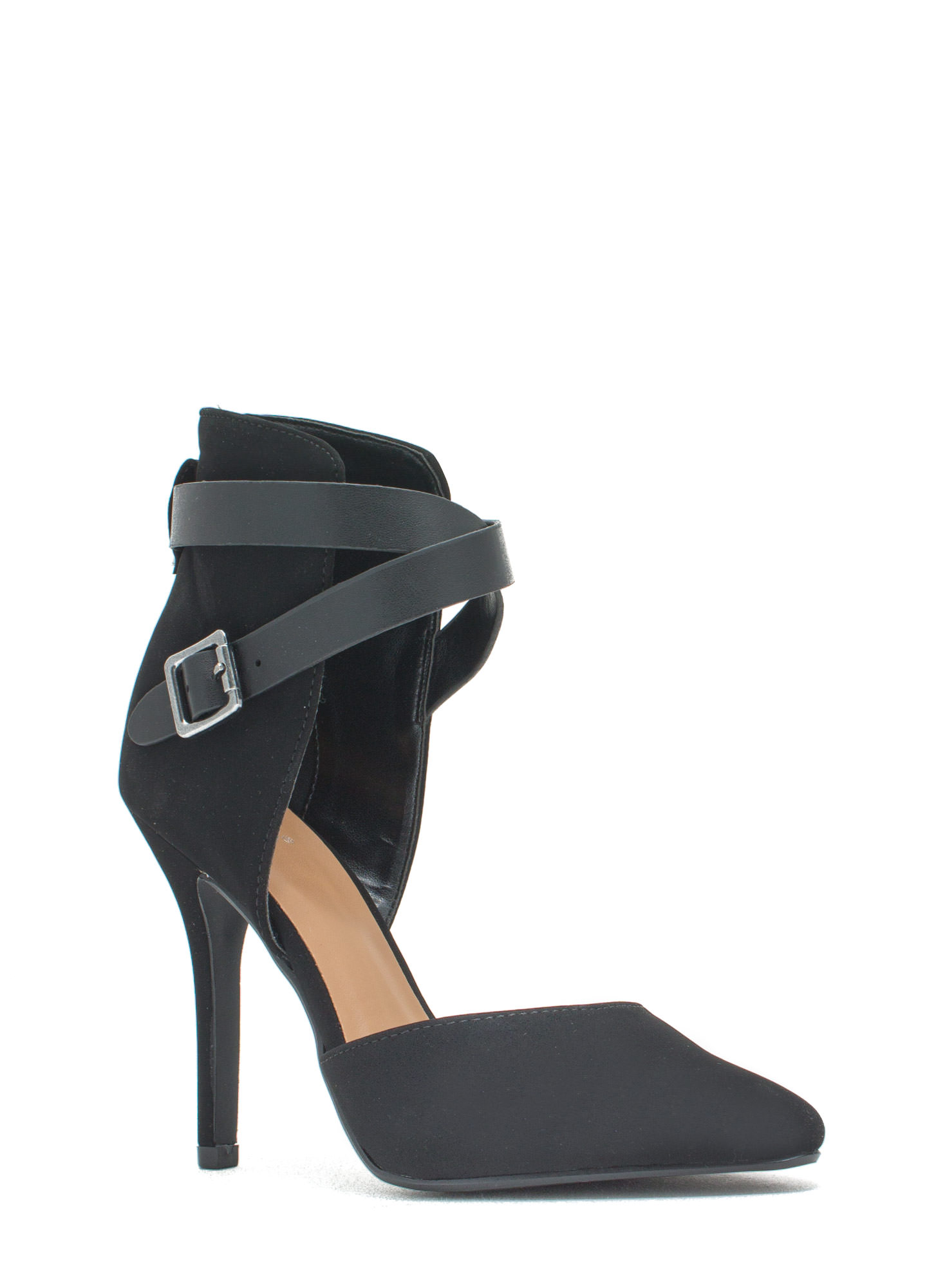 Strap Magic Pointy Heels BLACK