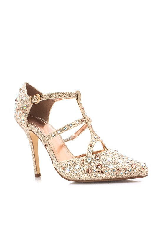 Treasure Trove Metallic Heels ROSEGOLD