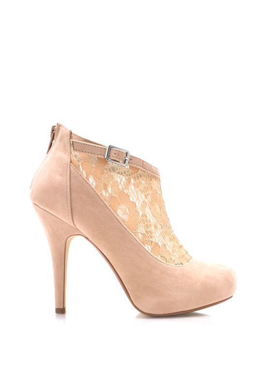 Socks Appeal Lace Booties NUDE