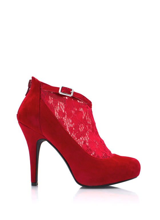 Socks Appeal Lace Booties RED (Final Sale)