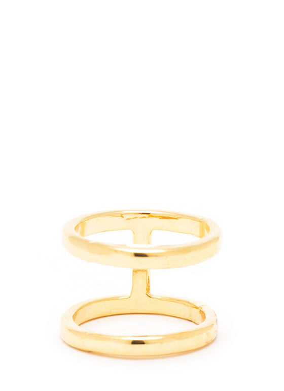 Perpendicular Cut Out Ring GOLD