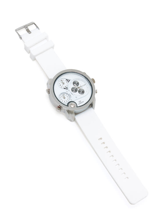 Hit The Big Time Oversized Watch WHITESILVER