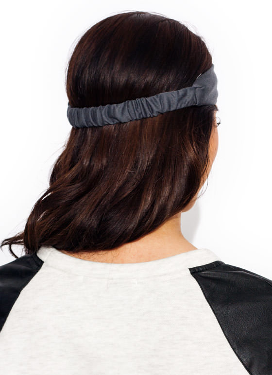 Do The Twist Headband CHARCOAL