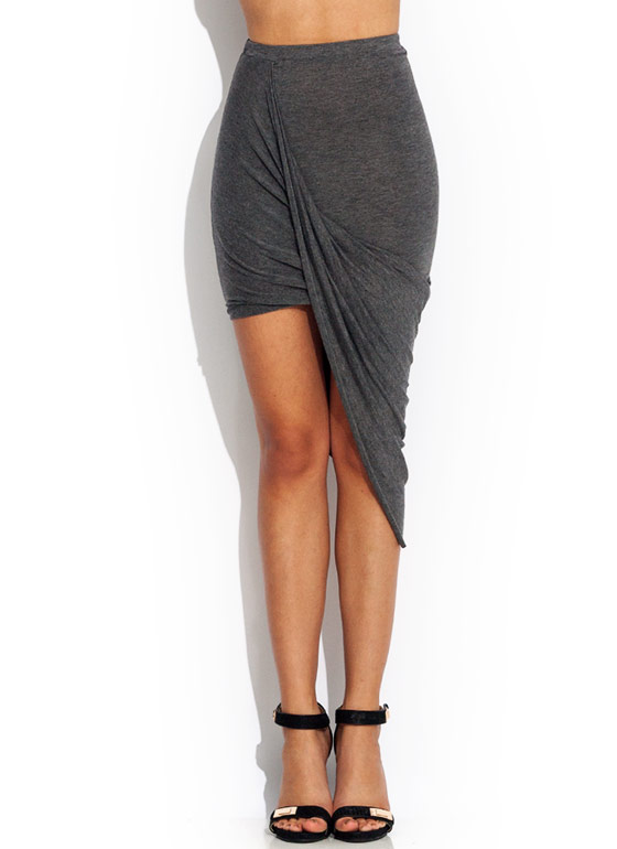 Draw The Draped Skirt CHARCOAL