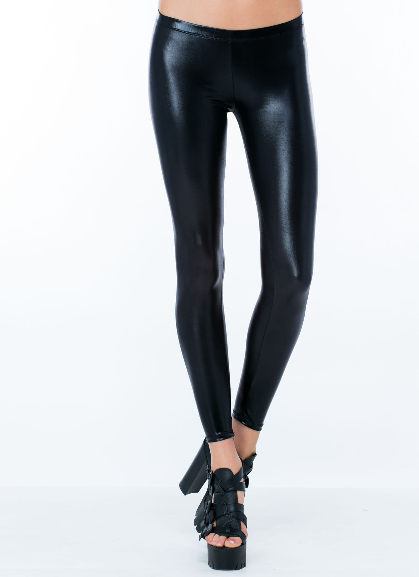 Liquid Assets Shiny Leggings BLACK