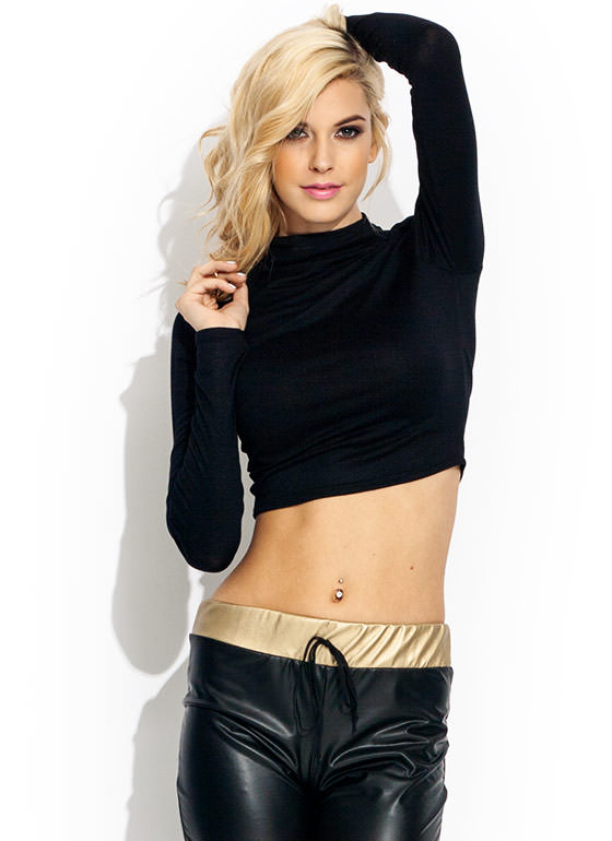 Funnel Of Love Cropped Top BLACK