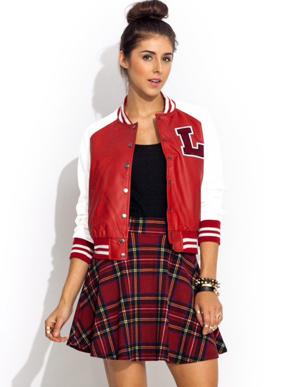 L Is For Love Varsity Jacket REDWHITE