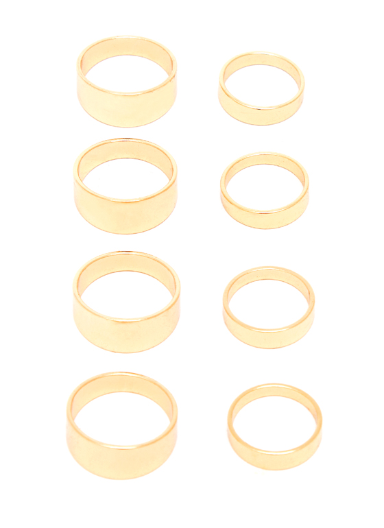 Eight Is Great Ring Set GOLD