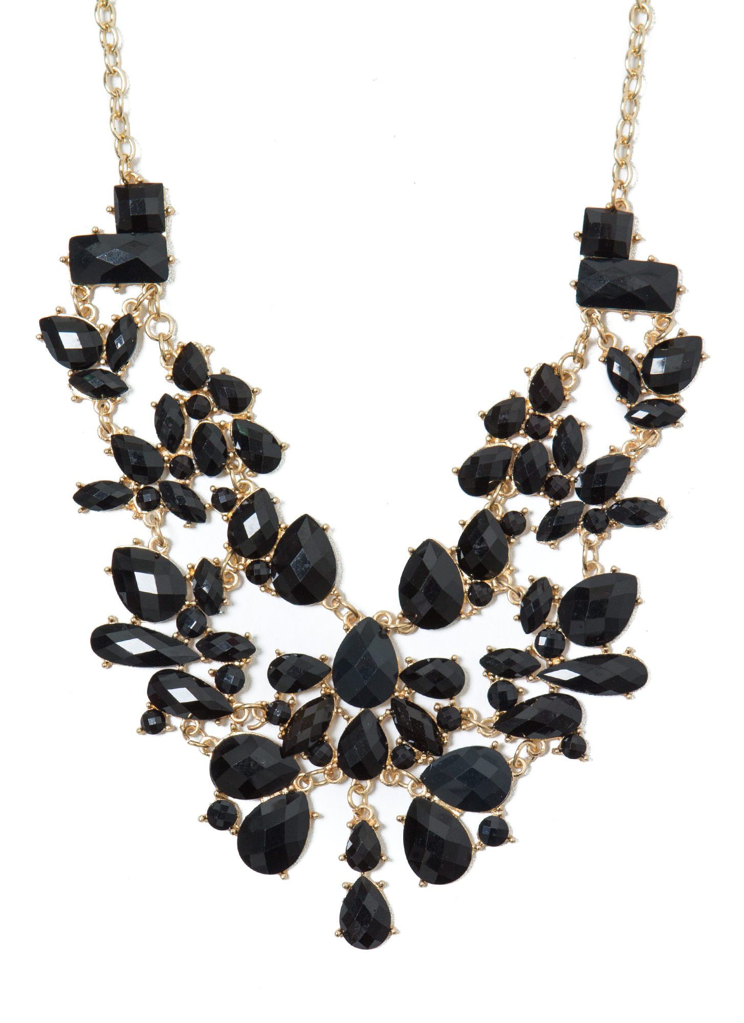 The Jewels Bib Necklace Set GOLDBLACK