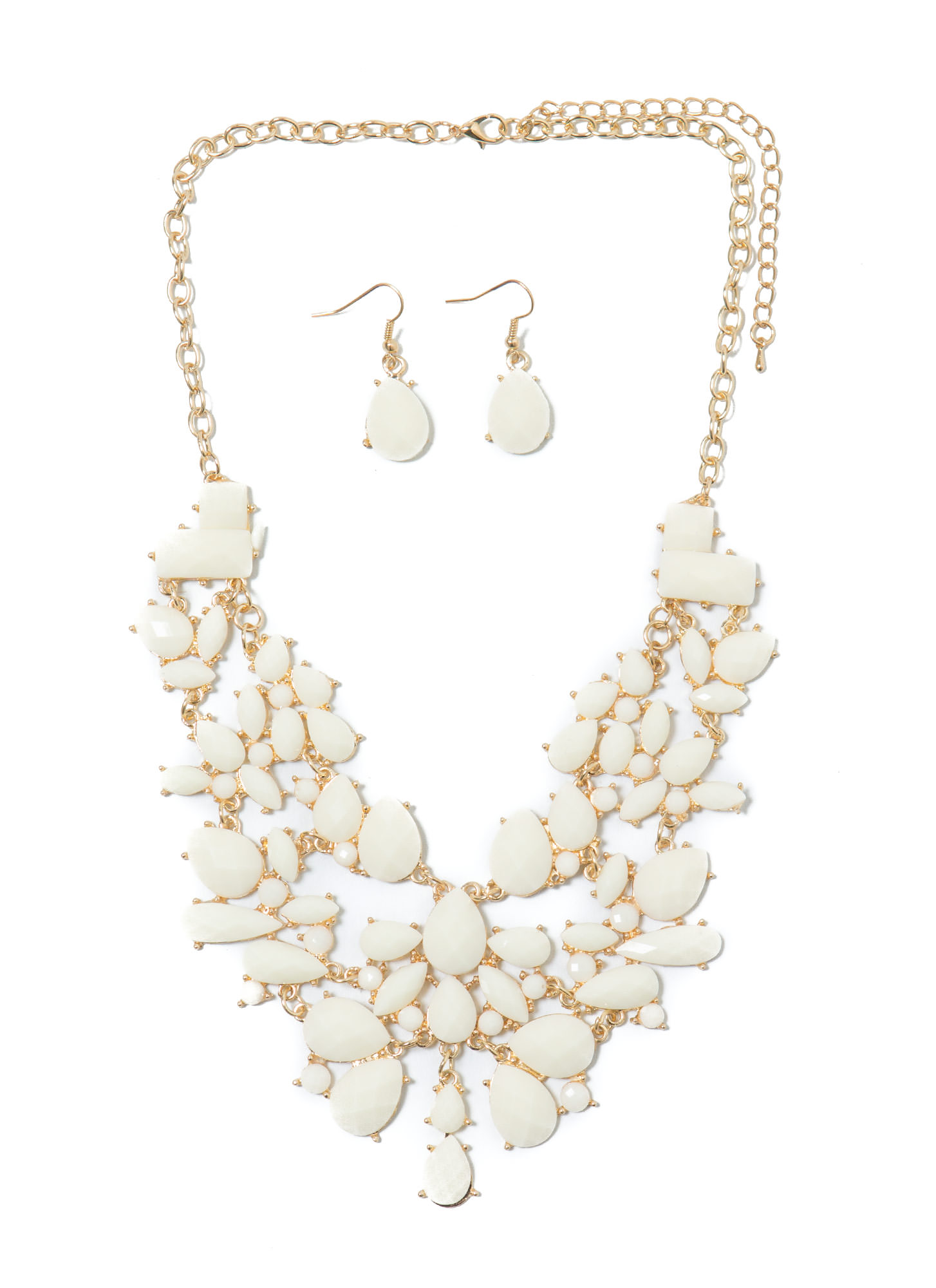 The Jewels Bib Necklace Set IVORY
