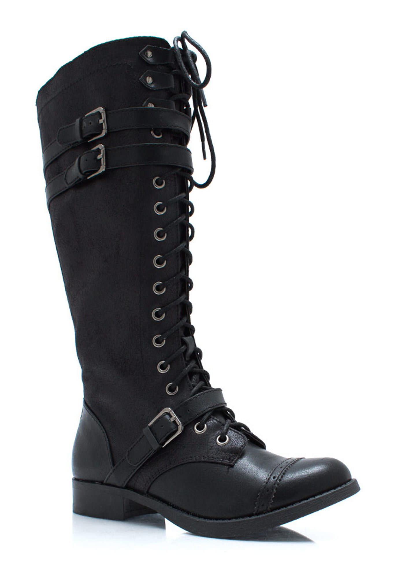 Higher Me Lace Up Boots BLACK