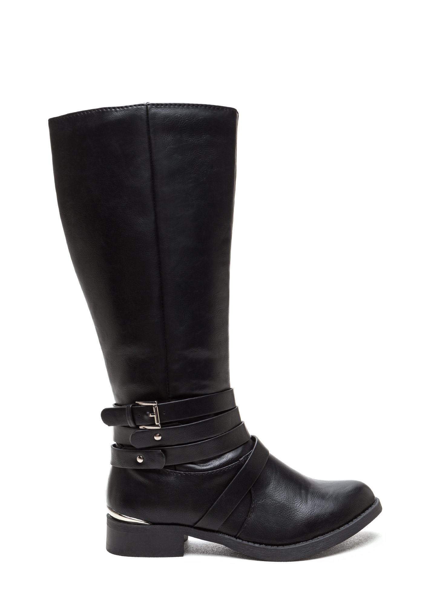 Kick Up Your Heels Strappy Boots BLACK