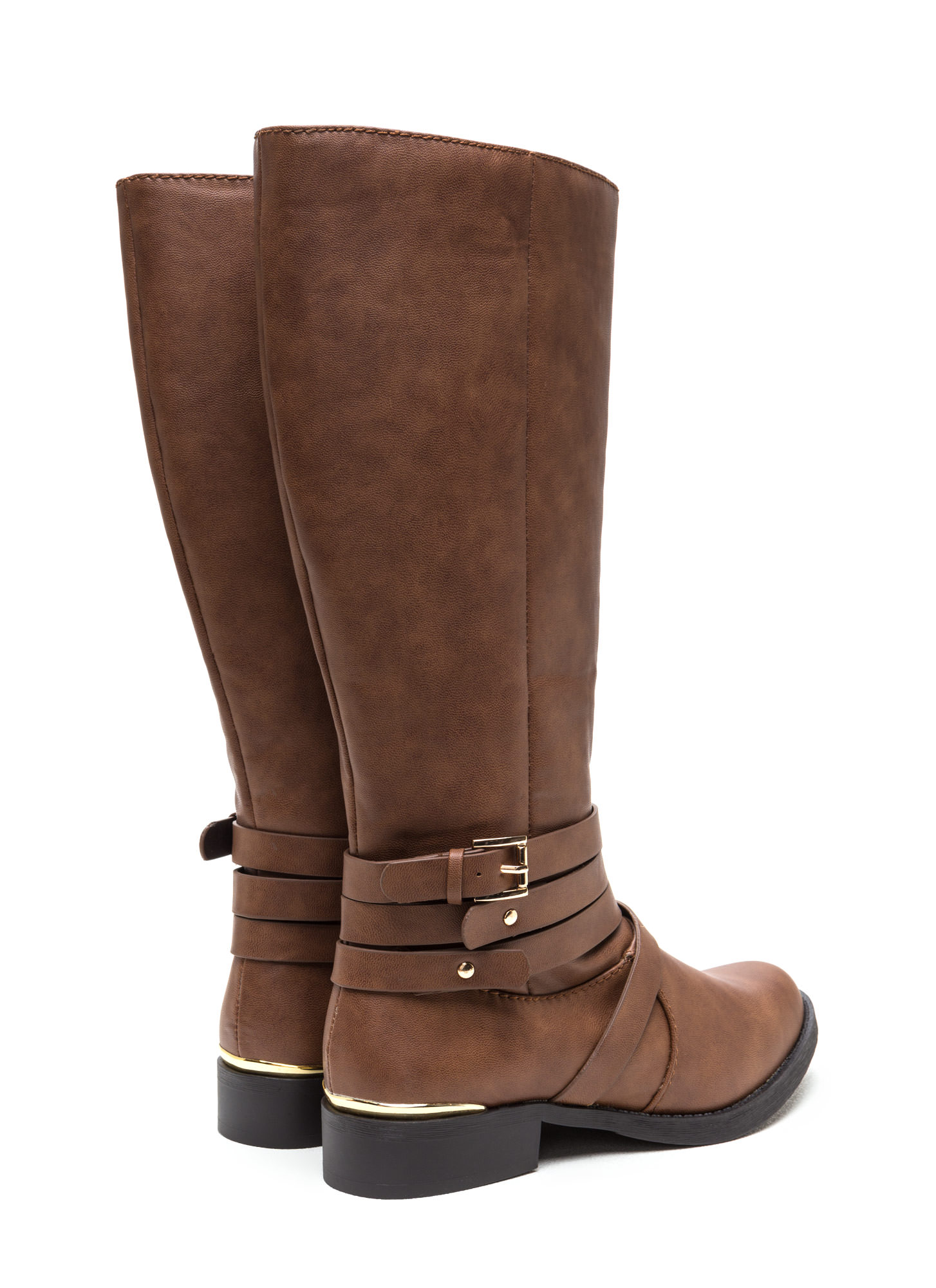 Kick Up Your Heels Strappy Boots TAN