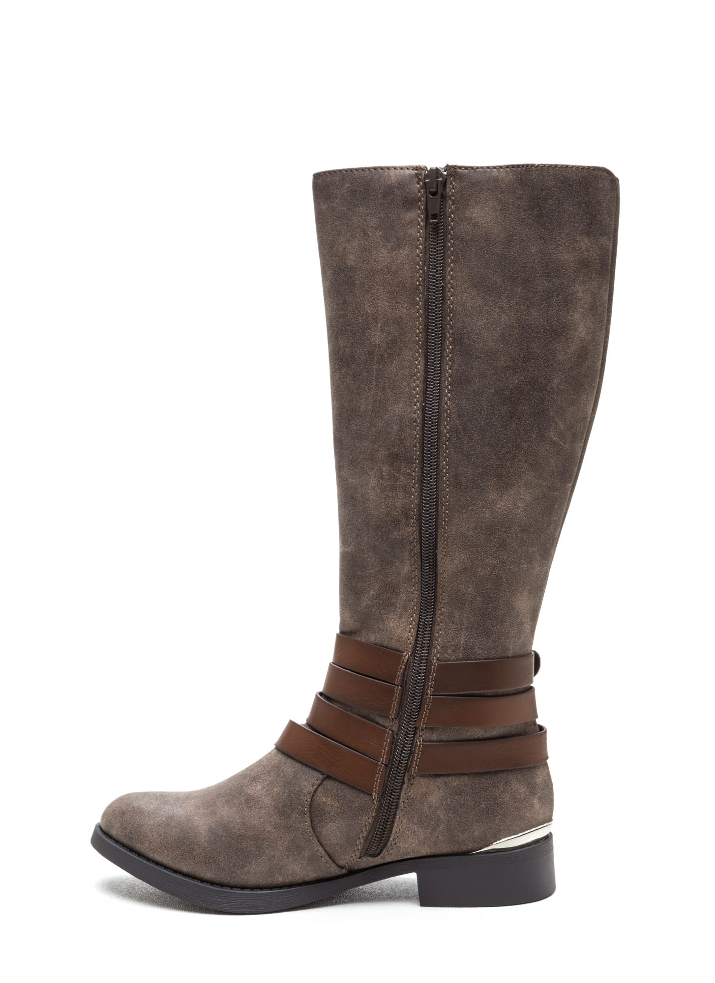 Kick Up Your Heels Strappy Boots TAUPEBROWN