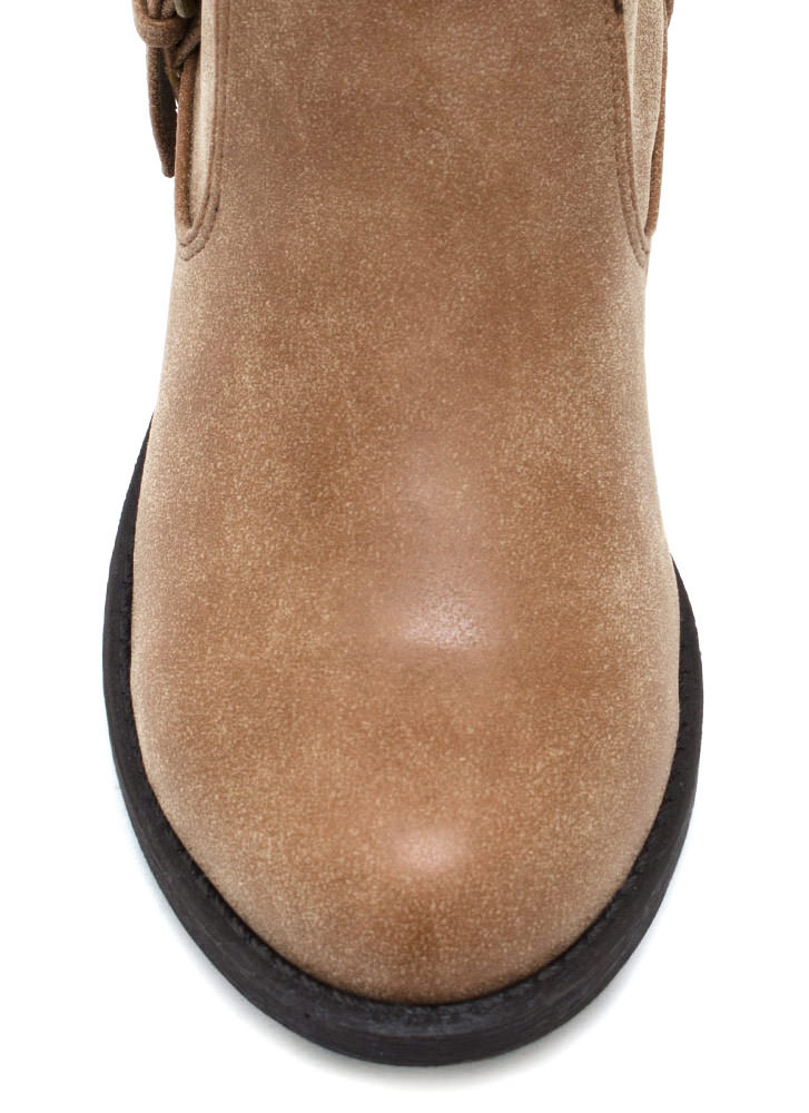 Tall For One Zip Back Boots LTTAUPE