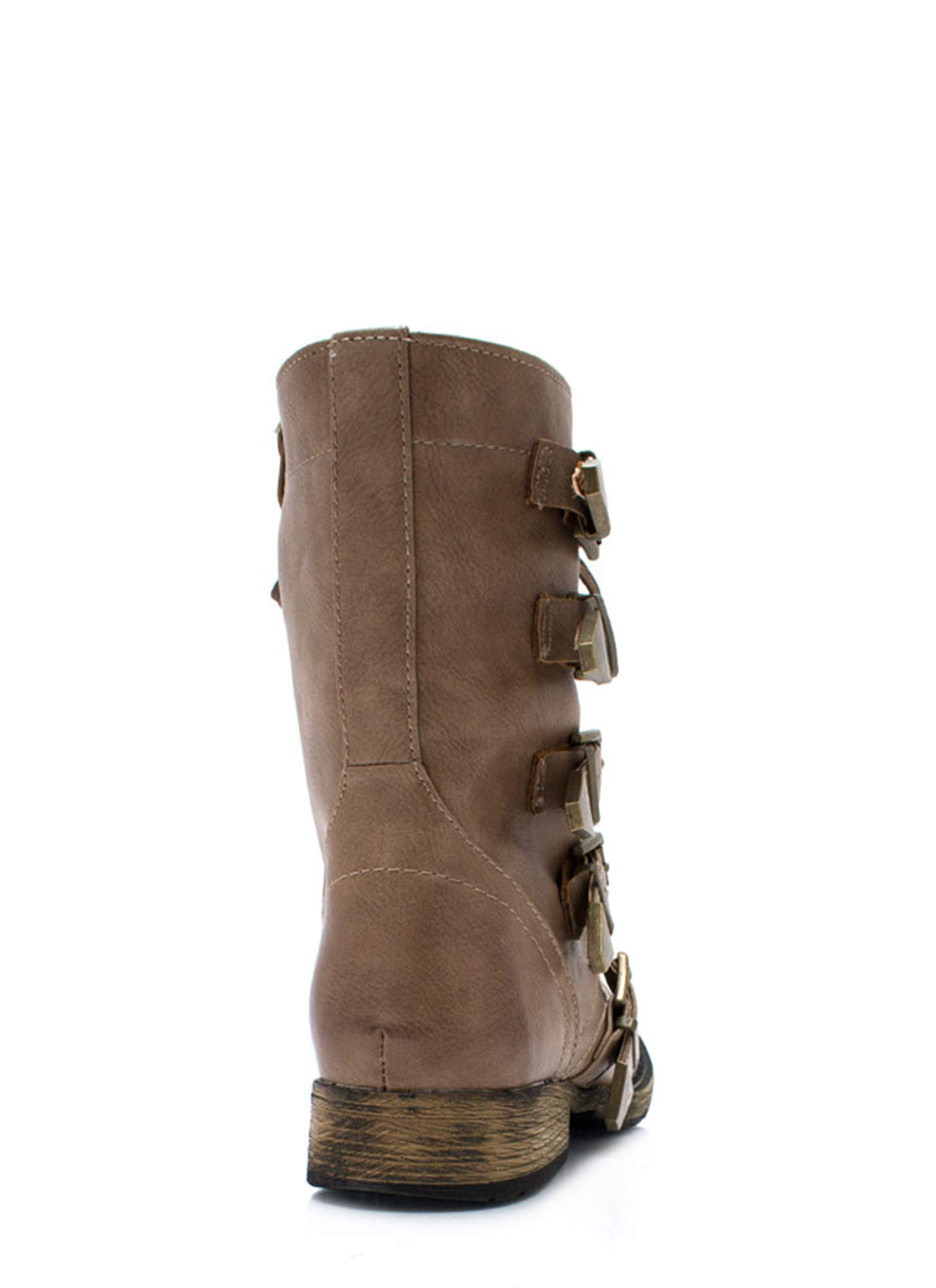 Number 5 Combat Boots TAUPE