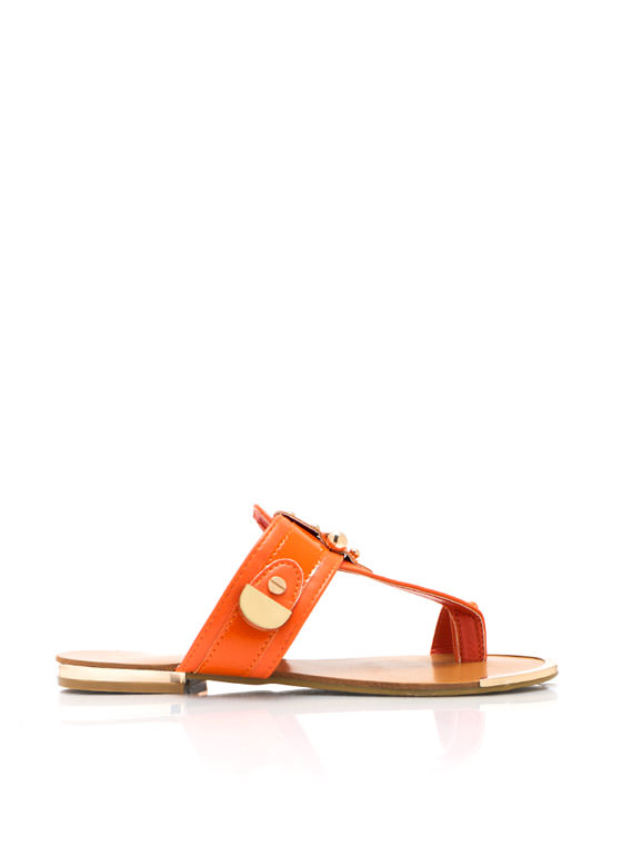 Hardware Thong Sandals ORANGE