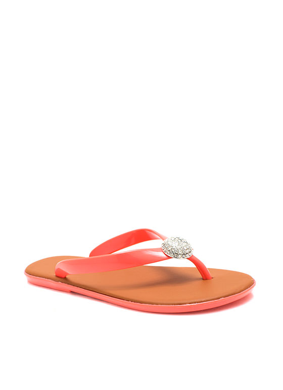 Domesday Jelly Thong Sandals CORAL