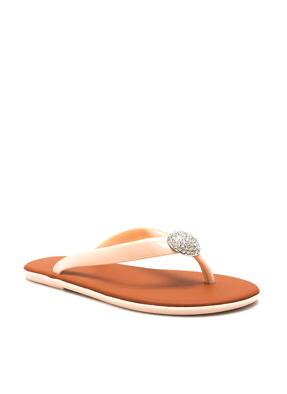 Domesday Jelly Thong Sandals NUDE