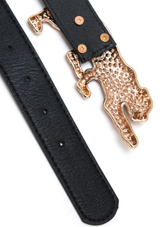 Prowling Leopard Accent Belt BLACKGOLD